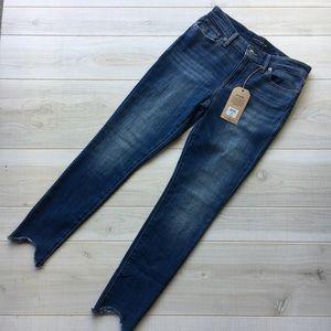Lucky Brand Ava skinny jeans raw hem